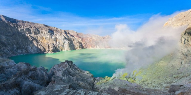 Ijen Crater and Blue Fire Caldera